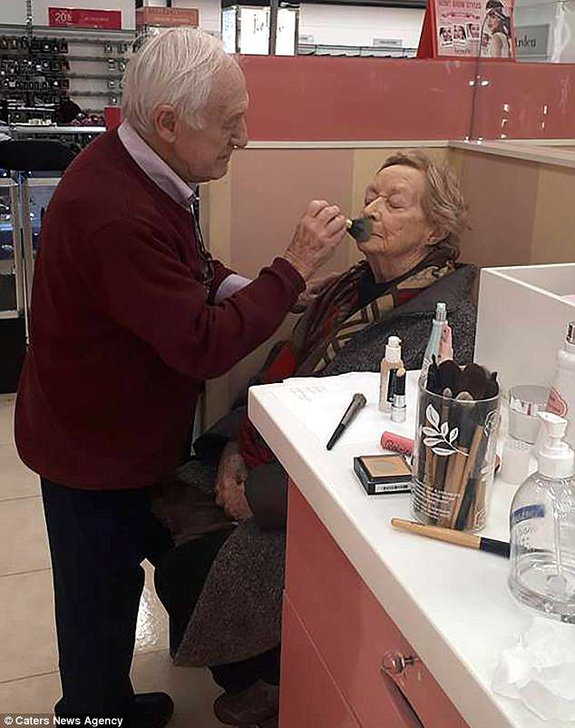 husband learns make up for wife